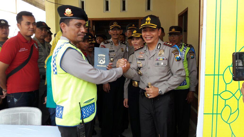 Bersama pejabat utama, Kapolres Batu cek Pos Pam Ops Ramadniya 2016