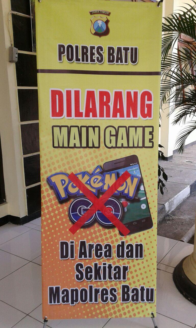 larang keras bermain Pokemon Go di mako polres