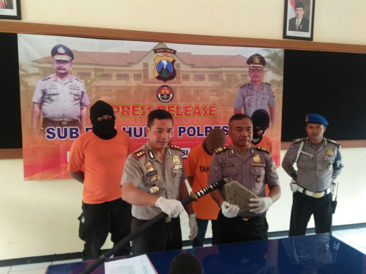 Kapolres Batu Pers release kasus Pengroyokan