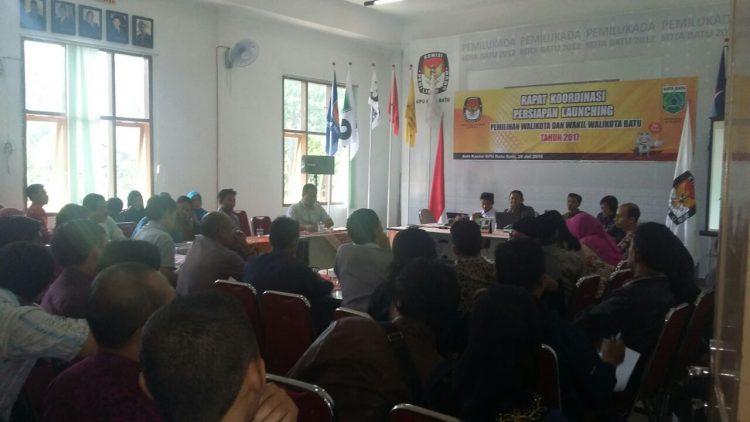 Persiapan Launching Pemilihan Walikota dan Wakil Walikota Batu tahun 2017