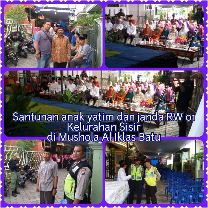 Giat Pam anggota Polsek Kota Batu pada pengajian umum di Kelurahan Sisir Kota Batu
