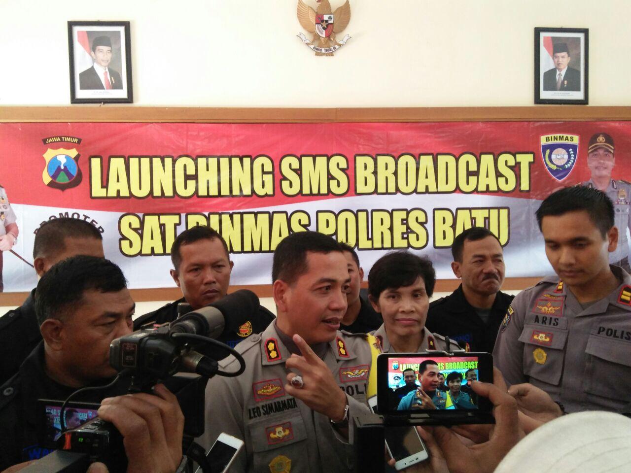 Launching SMS Broardcast Sat Binmas Polres Batu