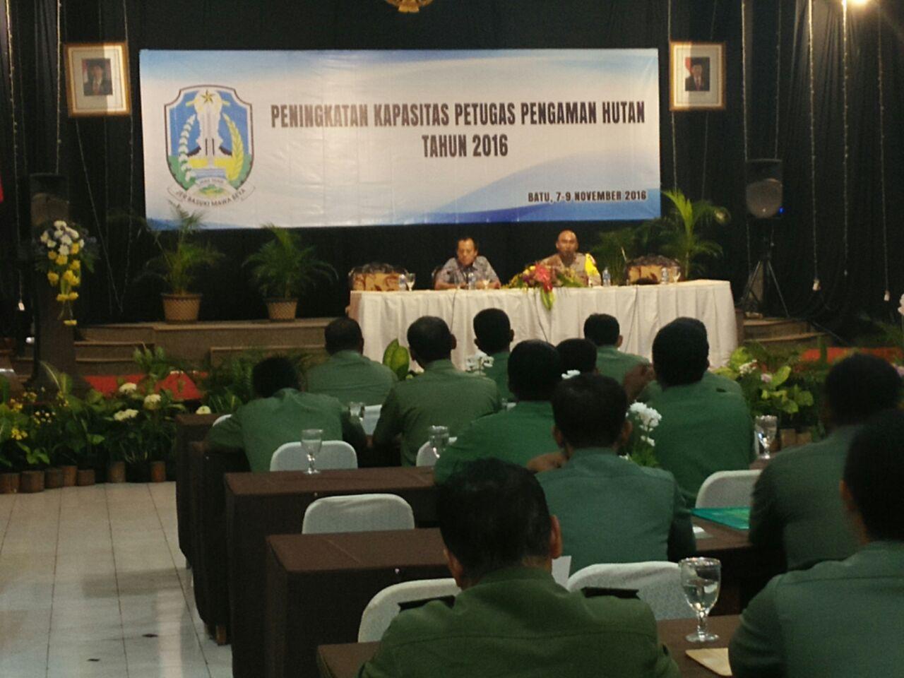 Kasat Shabara Polres Batu Bersinergi bersama Dinas Kehutanan Provinsi Jawa Timur