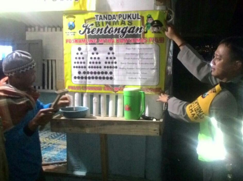 """Bhabinkamtibmas Kelurahan Temas Polsek Batu Kota melaksanakan kegiatan """"Safari Kamling"""""""