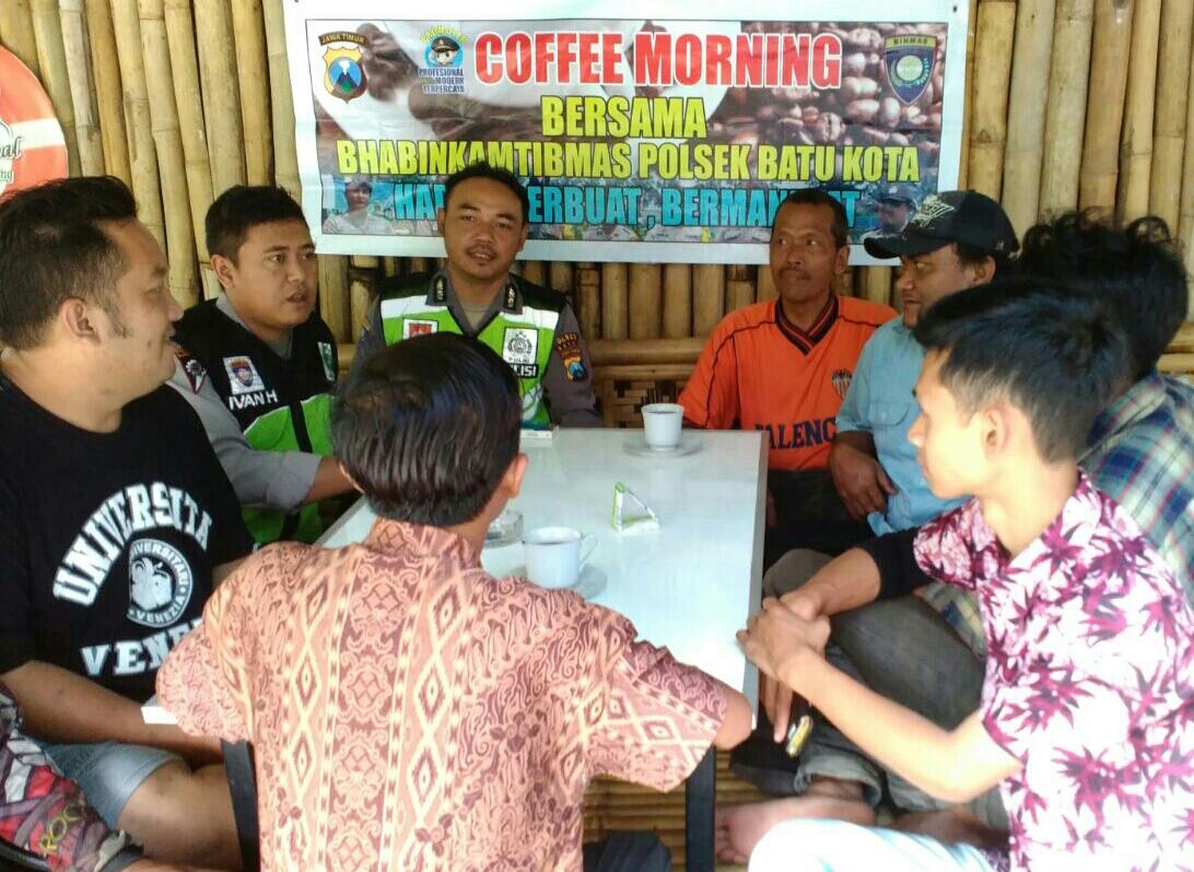 Serap aspirasi warga Bhabin polsek Batu Kota gelar coffee morning