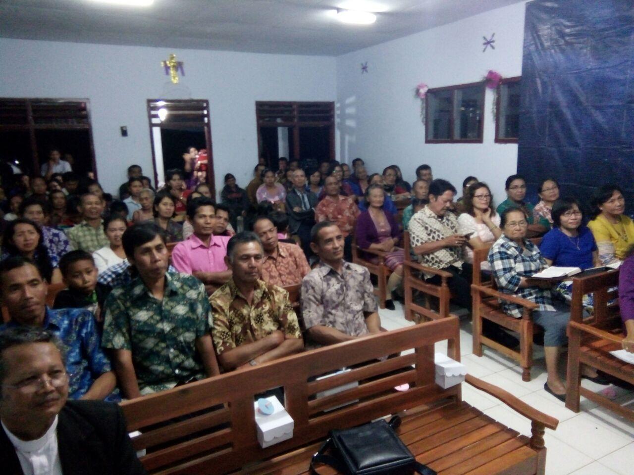 Giat Pam Ibadah Natal GMII di Dsn Dodol Ds Wono Agung Kasembon. Aman tertib