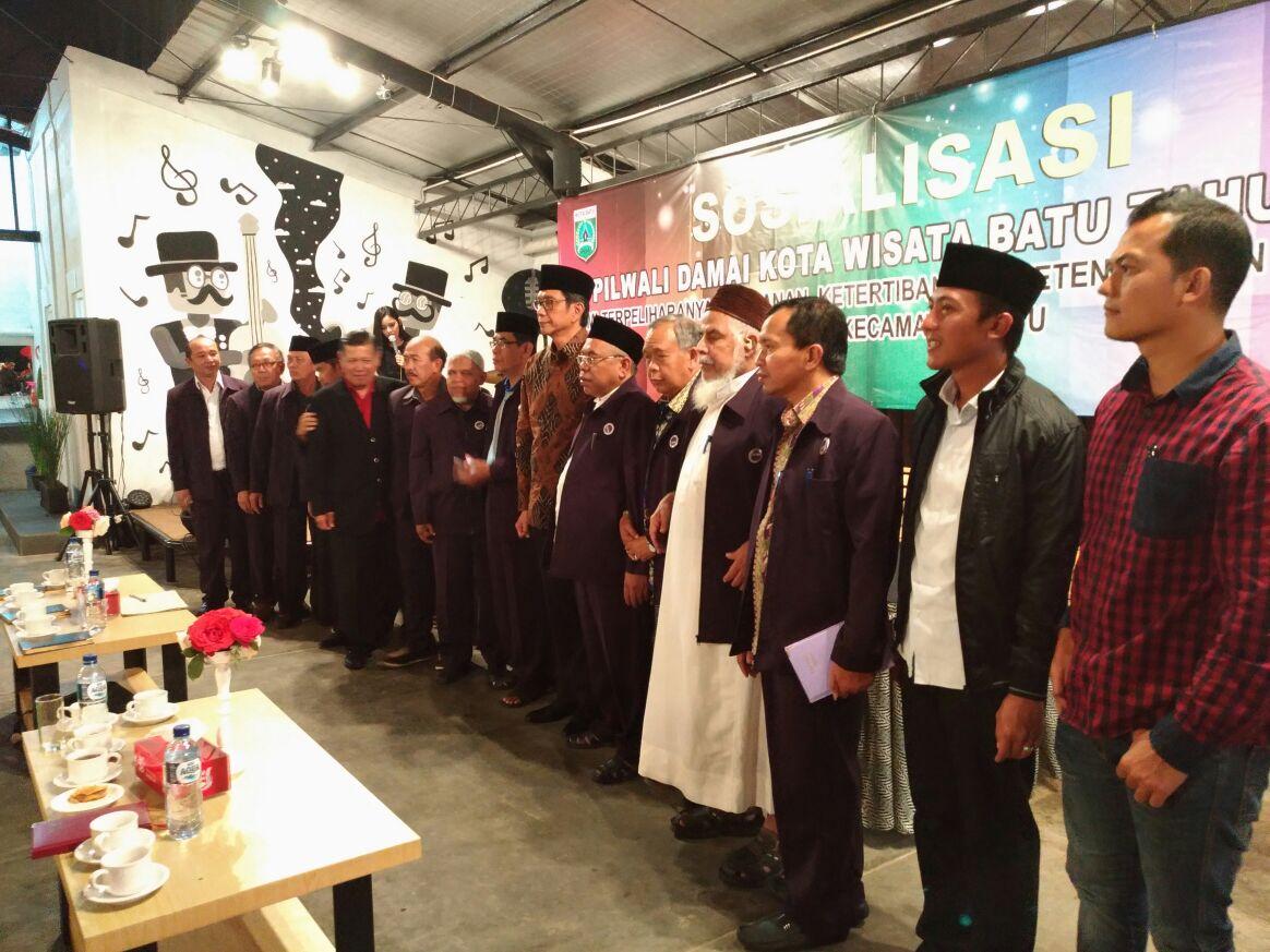 Kapolsek Menghadiri Sosialisasi Pilwali Damai Kota Batu 2017 Terpelihara Keamanan Ketertiban Masyarakat