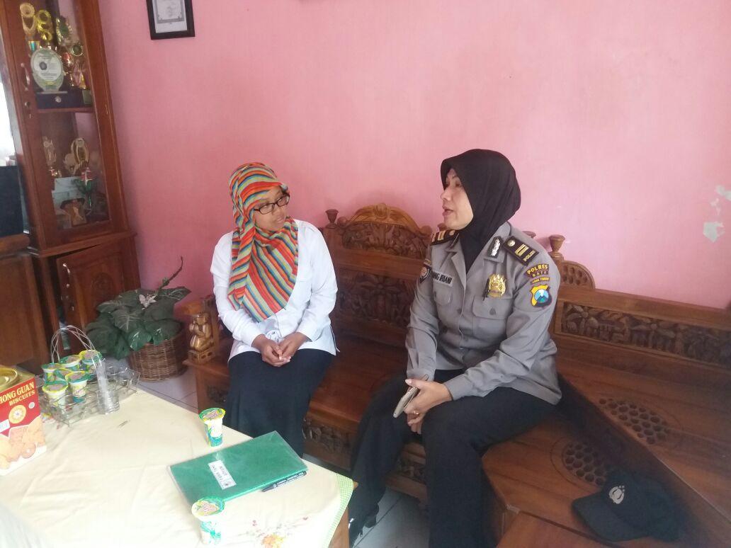 Koordinasi dengan SMP Ma'arif Batu Terkait Bina Upacara dan Binluh Narkoba serta Kenakalan Anak