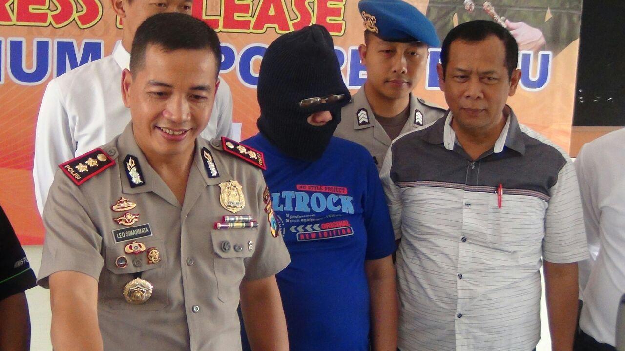 Press Release Ungkap Kasus Pengancaman Bom Di Wilayah Kota Batu