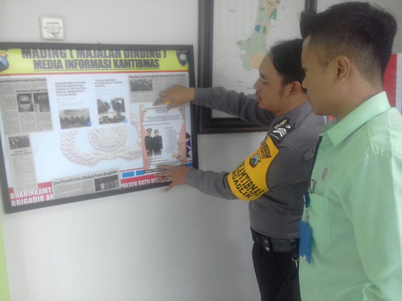 Sosialisasi Penerimaan Polri Sumber Sarjana Tahun 2017 Bhabinkamtibmas Kelurahan Ngaglik Polsek Batu Kota