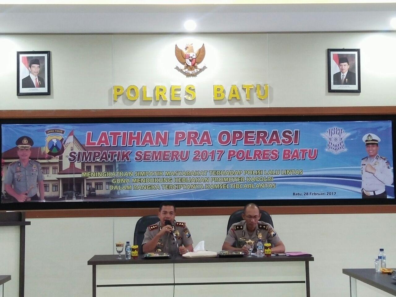 Latihan Pra Operasi Simpatik Semeru 2017 Polres Batu