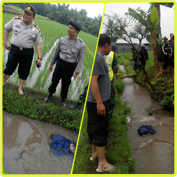 Kapolsek Junrejo mendatangi TKP penemuan mayat laki – laki umur sekira 60 tahun di Dusun Caru Desa Pendem