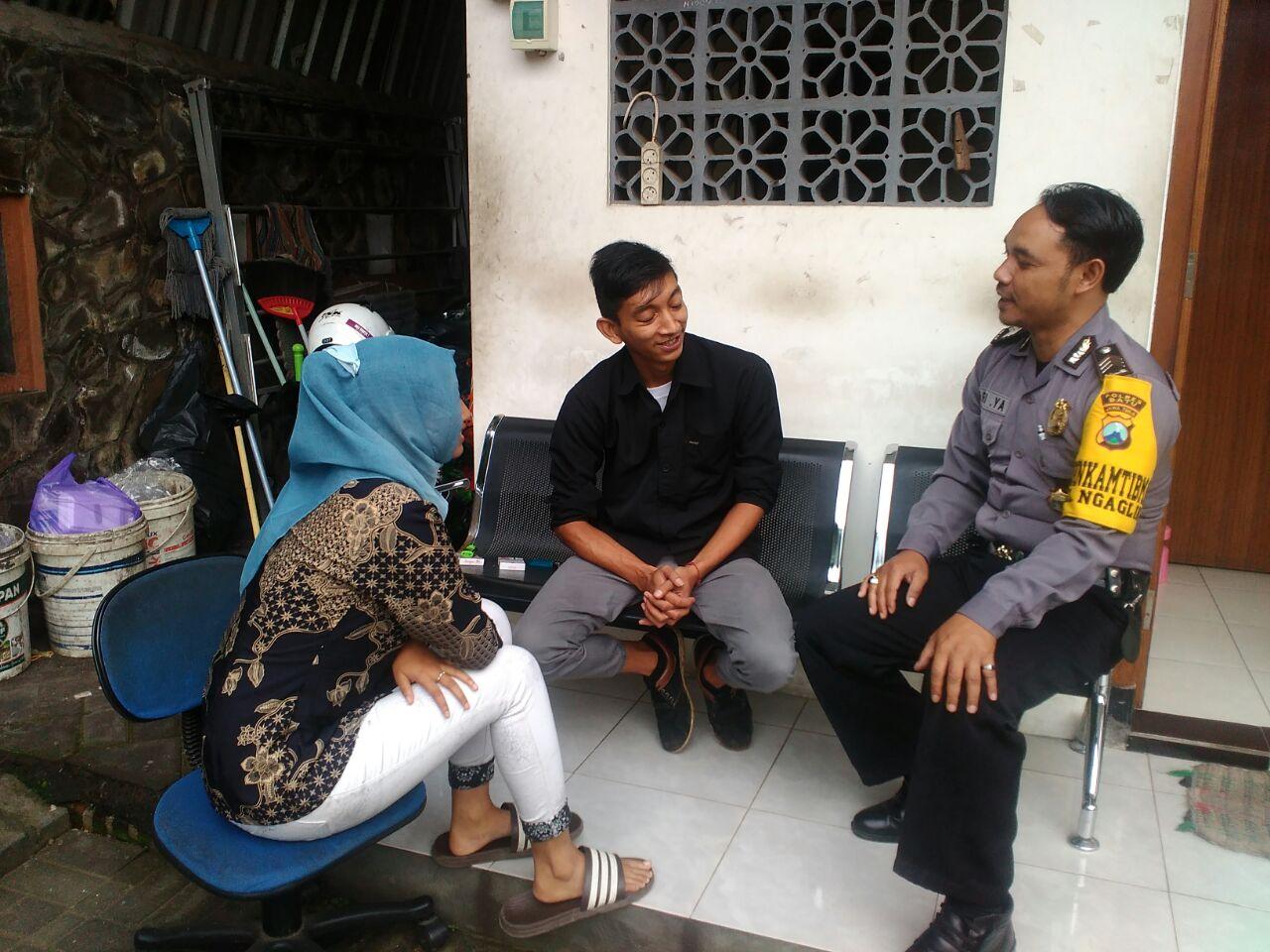 *Kunjungan Tokoh Pemuda Bhabinkamtibmas Kelurahan Ngaglik Polsek Batu Kota*
