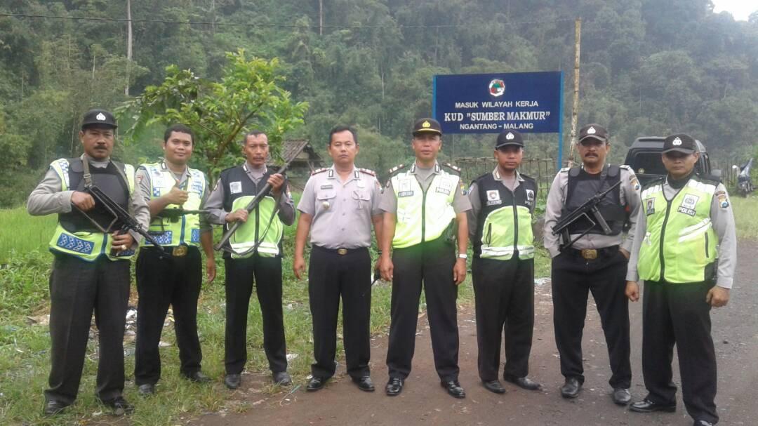 Kapolsek Ngantang Patroli Perbatasan Ngantang – Pujon