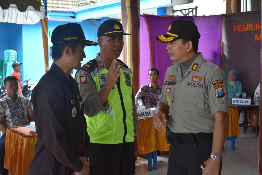 Kapolres Batu Cek Pemilihan Kepala Desa di Tiga Kecamatan Wilayah Kab. Malang Barat