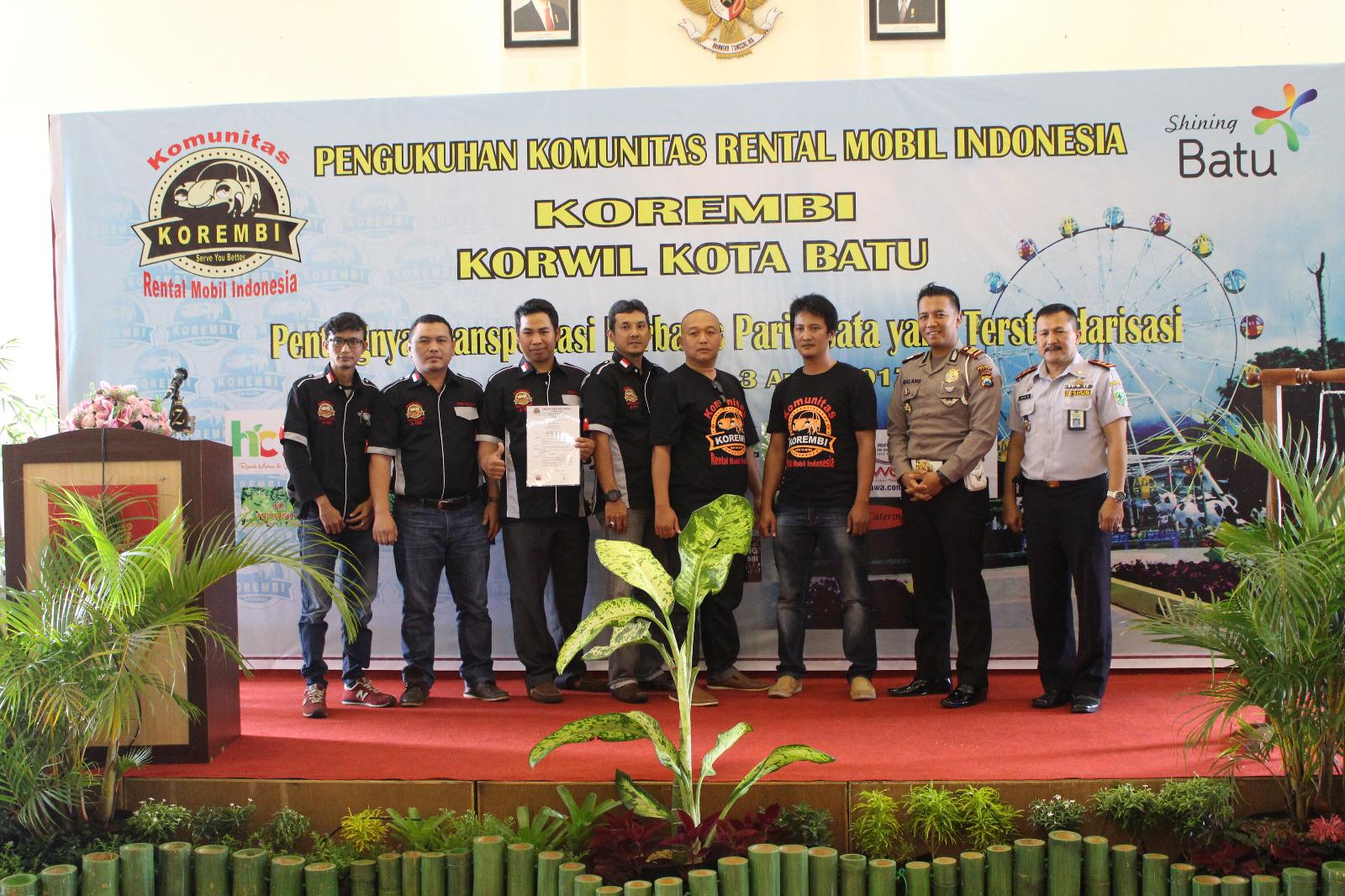 Pengukuhan Komunitas Rental Mobil Indonesia Korwil Kota Batu