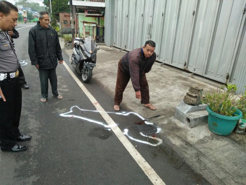 TPTKP Laka Lantas Jl. Raya Moch Hatta Antara Kendaraan R 2 Dangan Pejalan Kaki Korban MD
