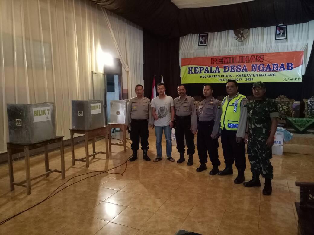 Kapolsek Pujon Bersama Anggota Pengecekan Kesiapan Lokasi TPS