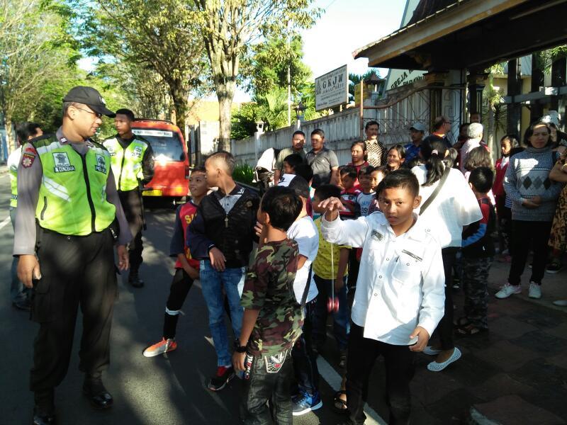 Giat Pengamanan Perayaan Paskah Di Kota Batu  Berjalan Aman Dan Kondusif