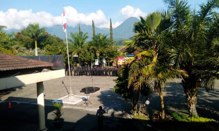 Persiapan Apel Gelar Pasukan Menjelang Pilkades Kabupaten Malang Wilayah Pujon, Ngantang dan Kasembon