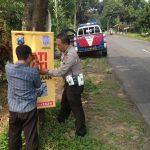 Ops Patuh Satlantas Polres Batu Pasang Banner Himbauan Laka Lantas