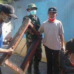 Anggota Polsek Junrejo Polsek Batu Melaksanakan Kerja Bakti Bersama 3 Pilar