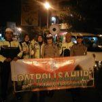 Patroli Sahur Bergabung Kasat Binmas Polres Batu, Sat Lantas Ajak Masyarakat Tertib Berlalu Lintas
