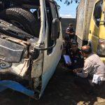Laksanakan  Tindak Lanjut Kecelakaan Lalu Lintas Klemuk, Kanit Laka Polres Batu Dan Dinas Perhubungan Periksa Kelayakan Kendaraan Terlibat Laka Lantas
