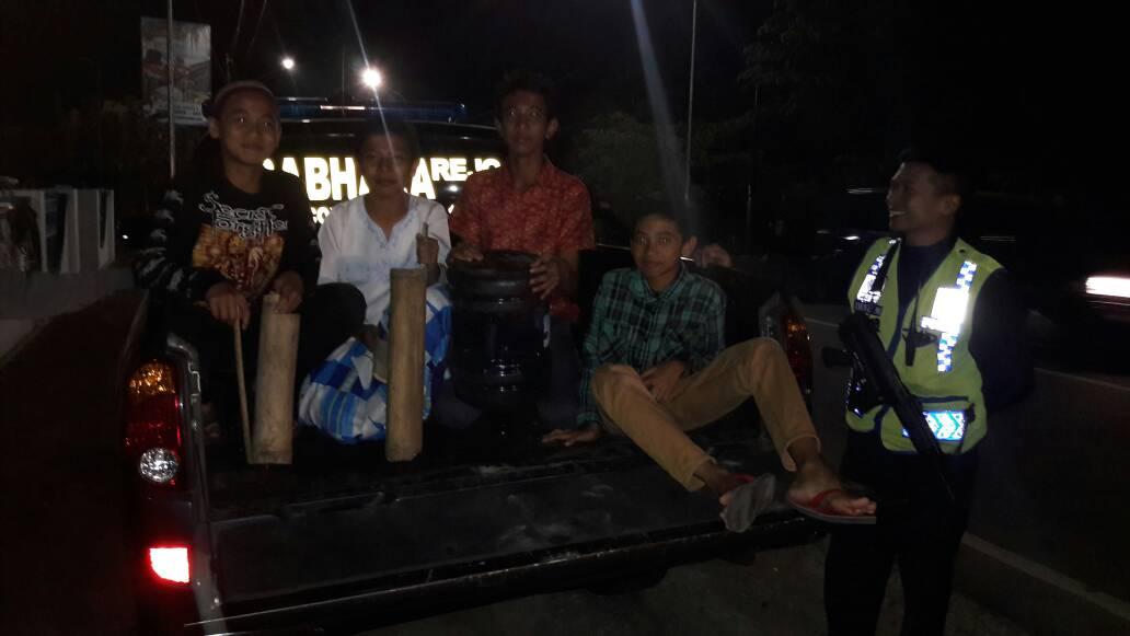 Polsek Junrejo Polres Batu melaksanakan Patroli sahur