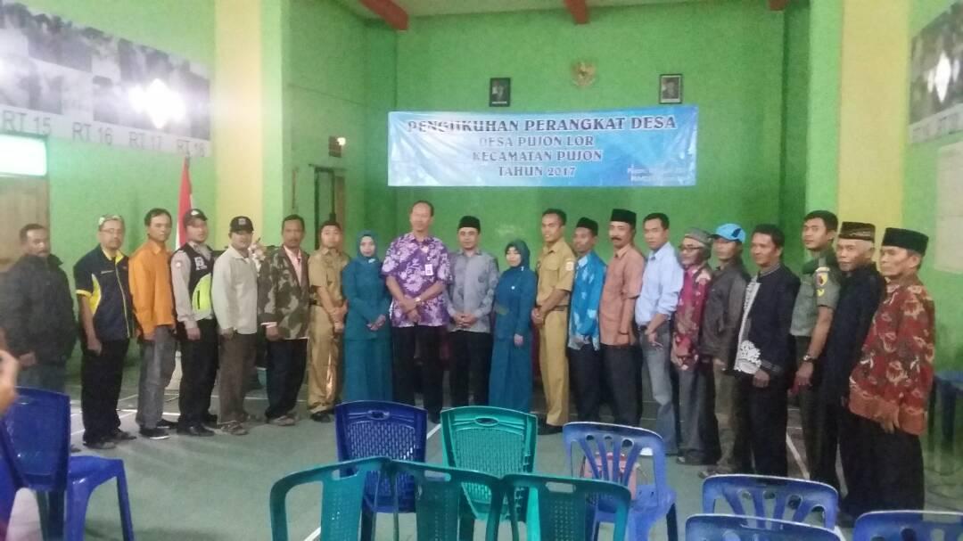 Bhabinkamtibmas Polres Batu Sektor Pujon Hadiri Pengukuhan Perangkat Desa Pujonlor