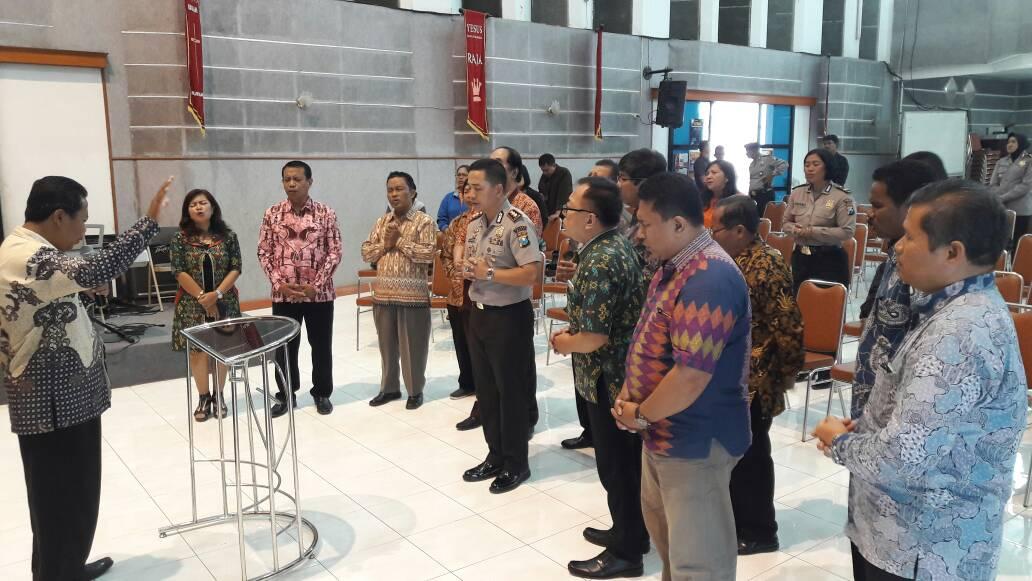 Do'a Umat Maranatha Menjaga Kapolres Batu Dalam Tugas