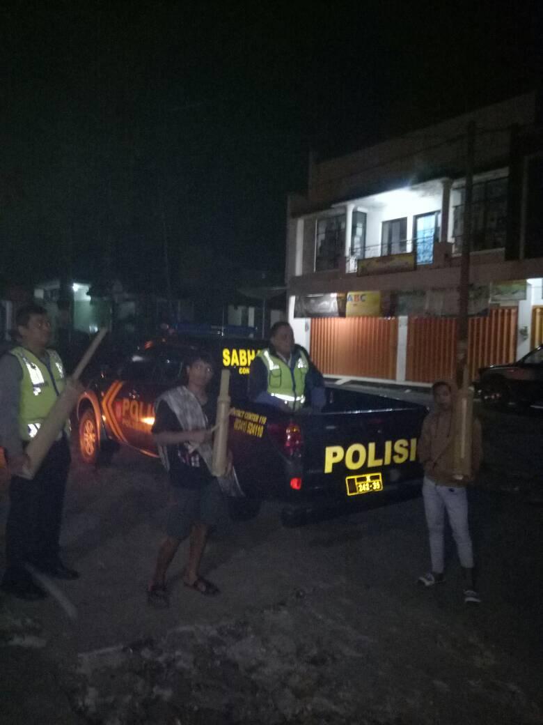 Bulan Puasa,  Polsek Pujon Polres Batu Laksanakan Patroli Sahur