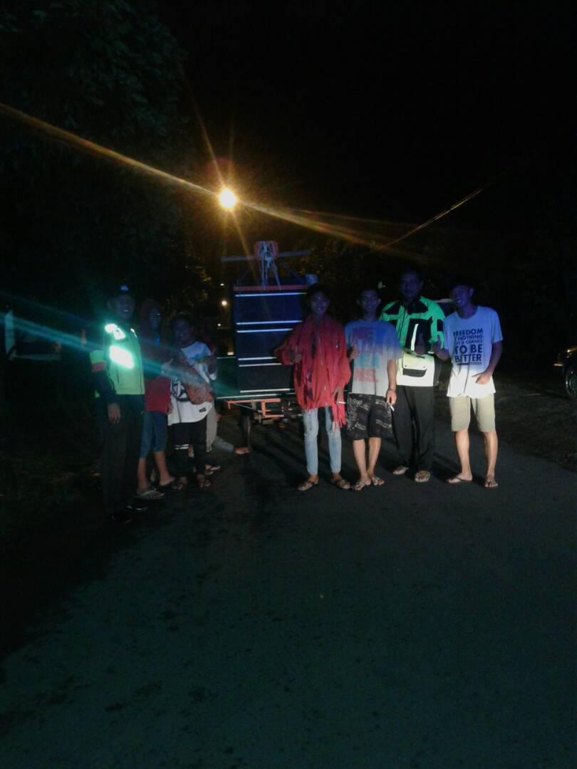 Polsek Ngantang Polres Batu Patroli Sahur Bersama Warga Desa Kaumrejo