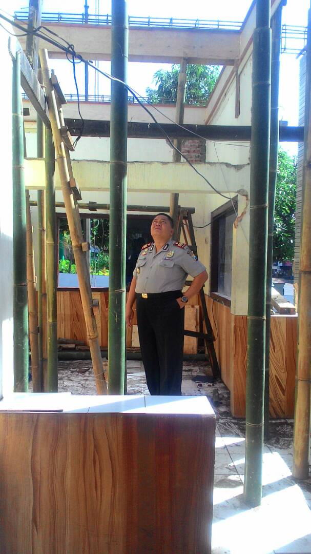 Mako Polsek Kasembon Rehap ruang Tahanan dan ruang Penjagaan.