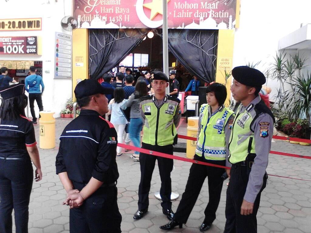 Pos Pam Pesanggrahan Polres Batu Laksanakan Patroli Tempat Pariwisata