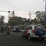 Menekan Pelanggaran Lalulintas, Anggota Satlantas Polres Batu Tingkatkan Keamanan Wilayahdan berikan himbauan kamtibmas jelang Pilpres 2019