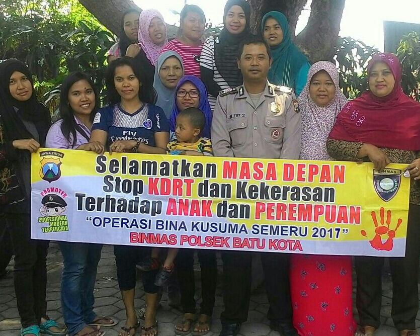 Bhabinkamtibmas Polsek Batu Polres Batu Binluh KDRT Ops Imbangan Bina Kusuma Semeru 2017