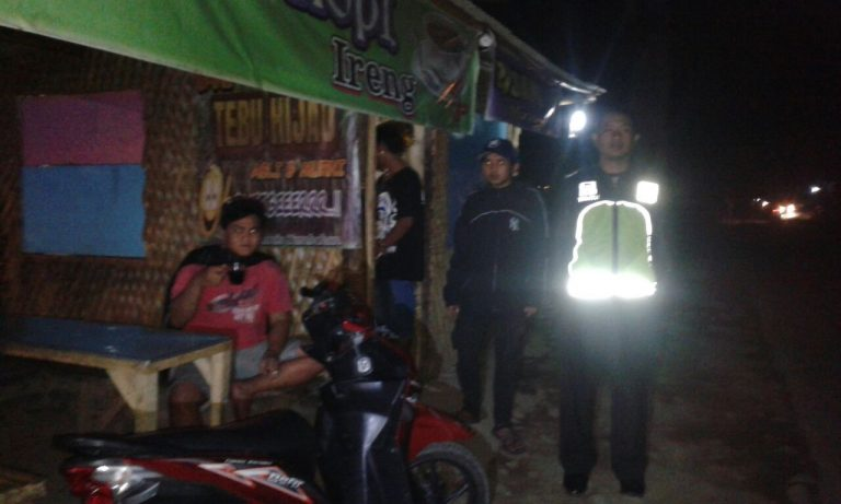 Demi Terciptanya Situasi Aman Kondusif, Anggota Polsek Pujon Polres Batu Giatkan Patroli Malam