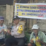 Dalam rangka Tingkatkan Harkamtibmas, Polsek Batu Polres Batu Bermitra Dengan Kelompok Peternak di desa Songgokerto