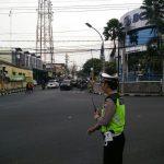 Guna Berikan Pelayanan Prima Kepolisian, Satlantas Polres Batu Giat Pengaturan