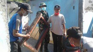 Kapolsek Junrejo Polres Batu Laksanakan Kerja Bakti Bersama 3 Pilar