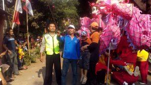Berikan Pelayanan Prima, Polsek Batu Kota Polres Batu Lakukan Pengamanan Barongsay