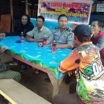 Anggota Bhabin Polsek Batu polres Batu Giatkan Coffe Morning Bersama Masyarakat Desa binaan