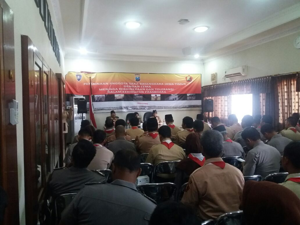 Kasat Binmas Polres Batu Menghadiri Pembinaan Saka Bhayangkara di Polda Jatim