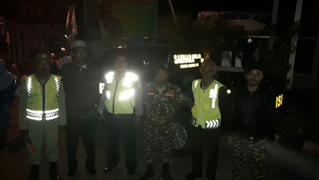 Kapolsek Junrejo Polres Batu Ikut Melaksanakan Pengamanan Pengajian Akbar di Junrejo
