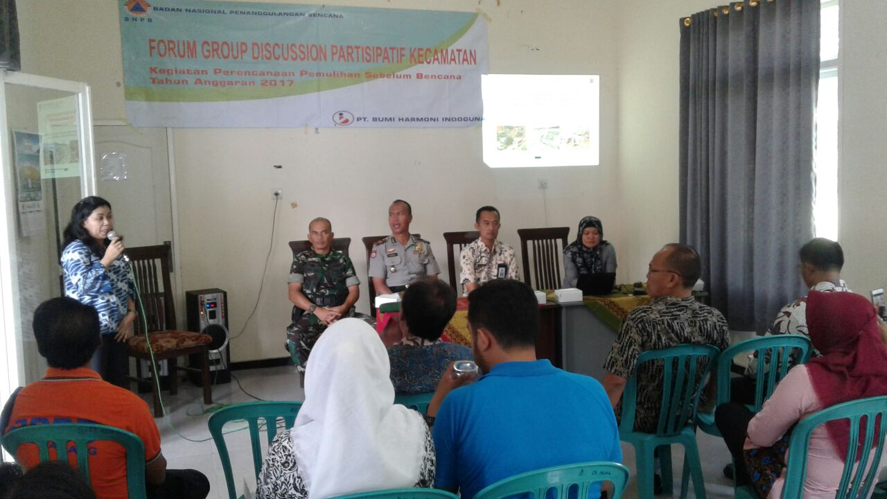 Kapolsek Ngantang Polres Batu Menghadiri Kegiatan Sosialisasi Pra Bencana Alam oleh BNPB