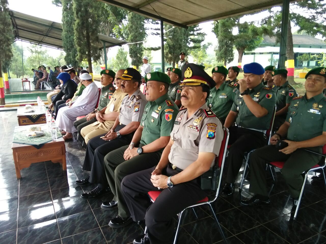 Kabag Ren Polres Batu Kompol Pujiarto,SH Menghadiri Upacara Sahabat Sejati di Korem 083 Yonkav 3 Singosari