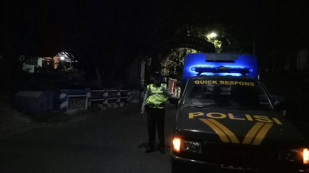 Antisipasi Kriminalitas Jam Rawan, Anggota Polsek Batu Kota Polres Batu Giat Patroli Malam