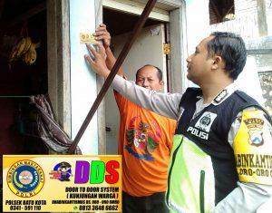 Bhabinkamtibmas Polsek Batu Kota Polres Batu Lakukann DDS ke Pedagang Prancangan Guna Sampaikan Kamtibmas