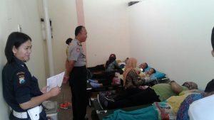 Kapolsek Ngantang Polres Batu Hadiri Donor Darah di SKT Ngantang